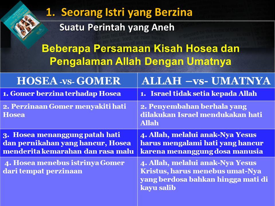 Beberapa Persamaan Kisah Hosea dan Pengalaman Allah Dengan Umatnya