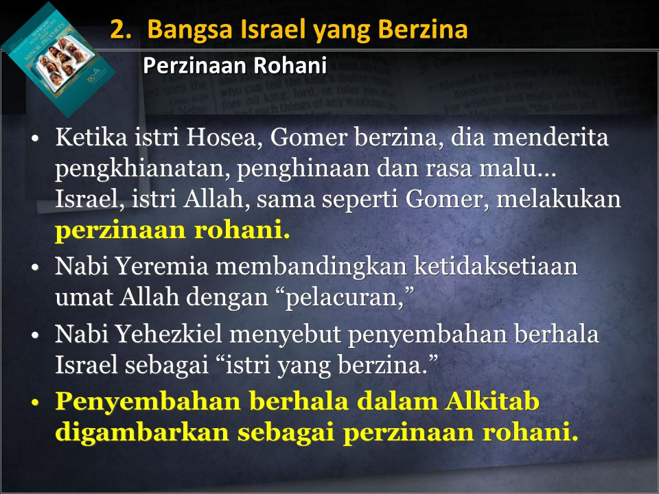 2. Bangsa Israel yang Berzina Perzinaan Rohani