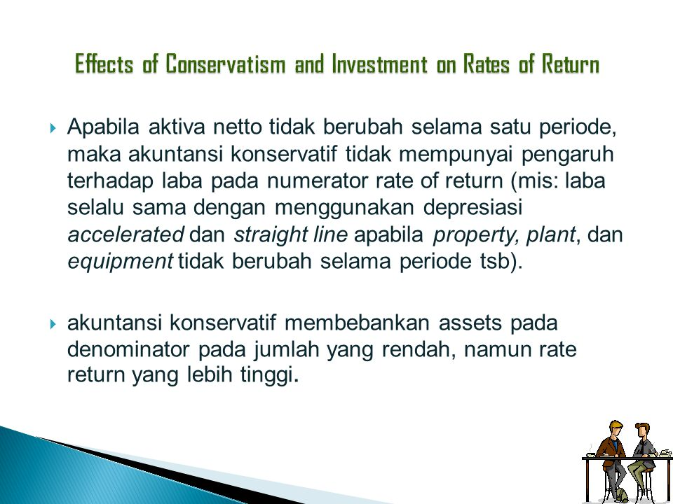Effects of Conservatism and Investment on Rates of Return