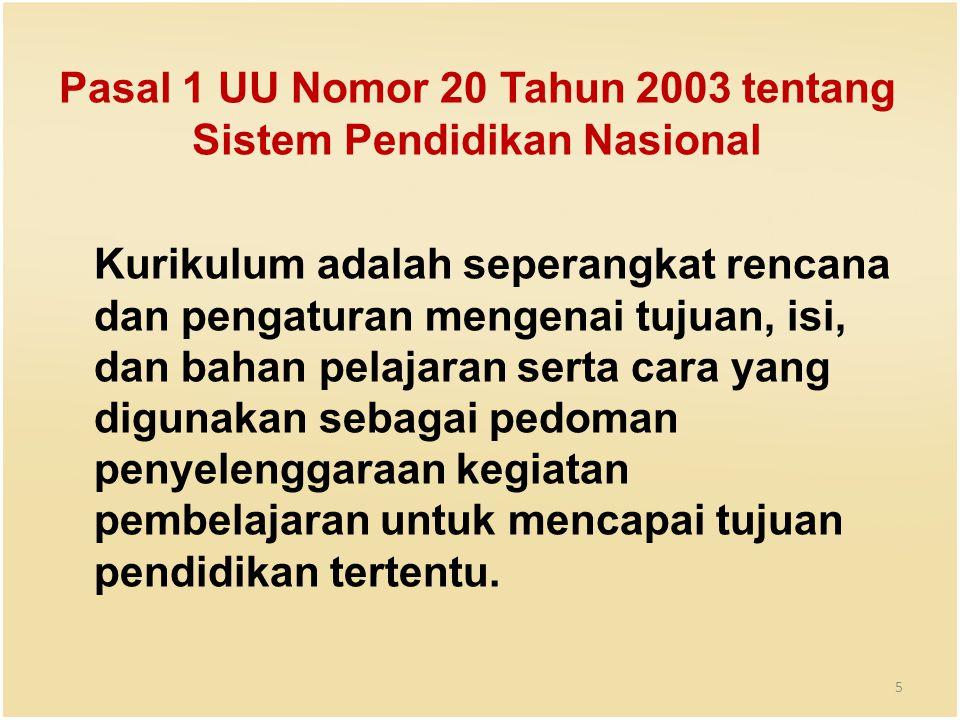 Pasal 1 UU Nomor 20 Tahun 2003 tentang Sistem Pendidikan Nasional
