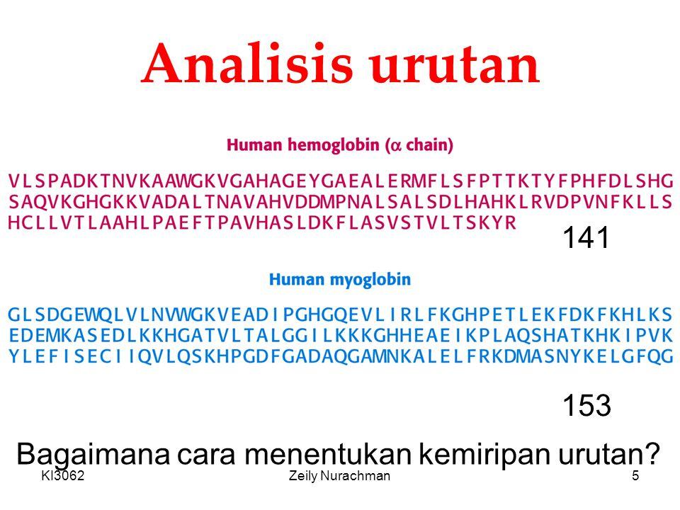 Analisis urutan 141 153 Bagaimana cara menentukan kemiripan urutan