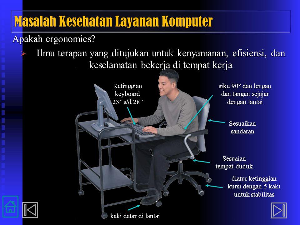 Masalah Kesehatan Layanan Komputer