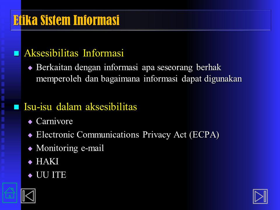 Etika Sistem Informasi