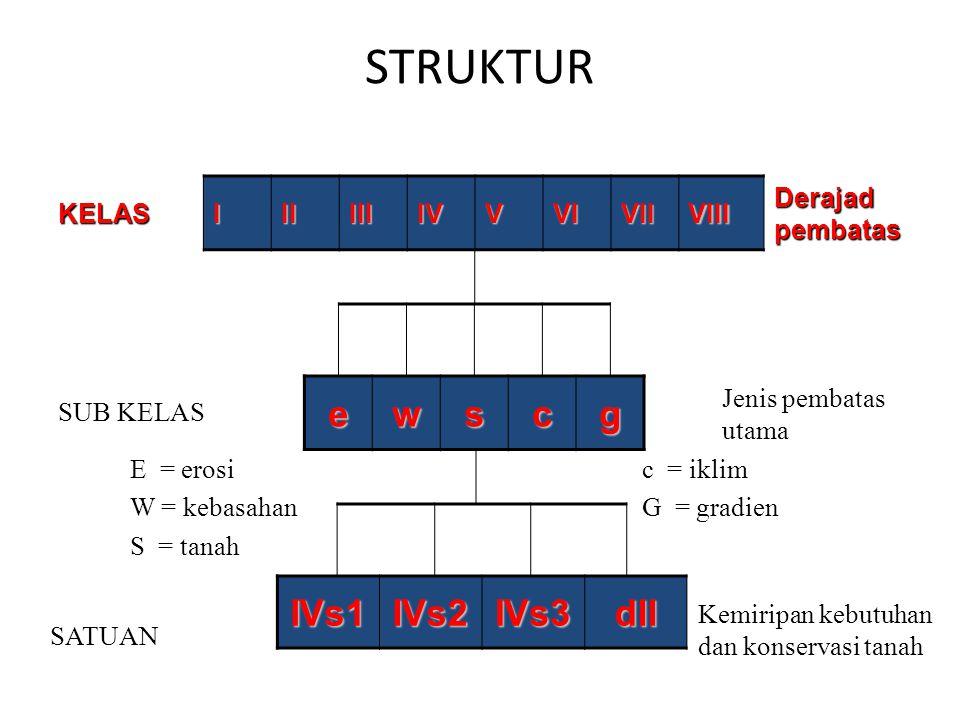 STRUKTUR e w s c g IVs1 IVs2 IVs3 dll KELAS I II III IV V VI VII VIII