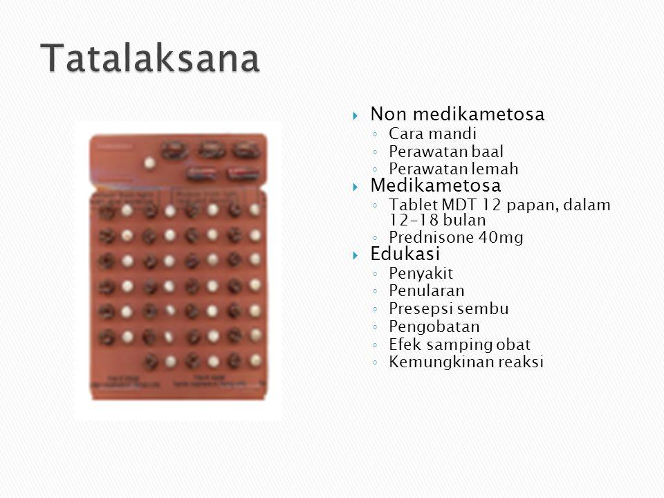 Tatalaksana Non medikametosa Medikametosa Edukasi Cara mandi