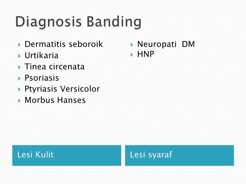 Diagnosis Banding Dermatitis seboroik Urtikaria Tinea circenata