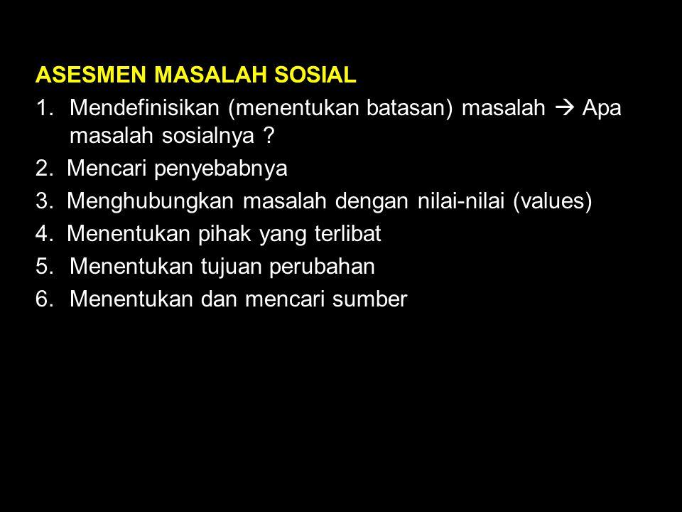 ASESMEN MASALAH SOSIAL