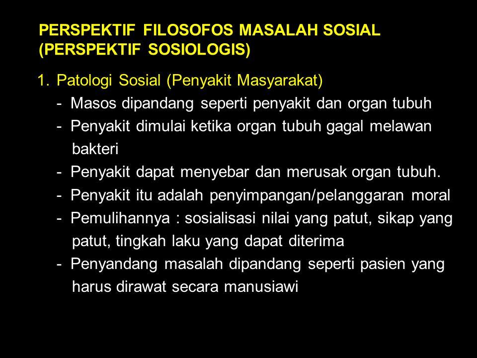 PERSPEKTIF FILOSOFOS MASALAH SOSIAL (PERSPEKTIF SOSIOLOGIS)