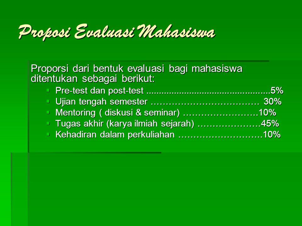 Proposi Evaluasi Mahasiswa