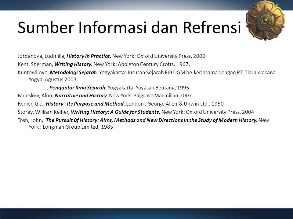 Sumber Informasi dan Refrensi