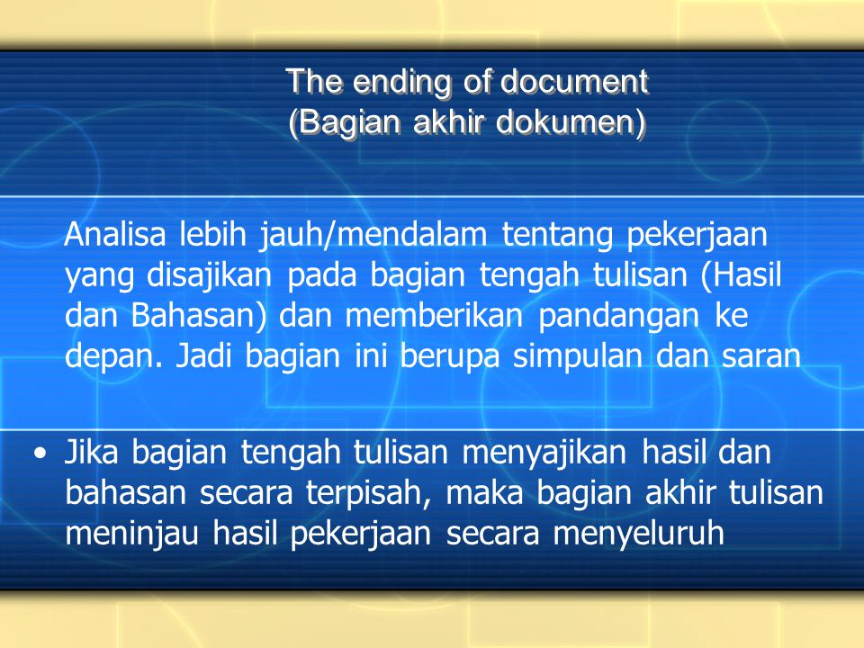 The ending of document (Bagian akhir dokumen)