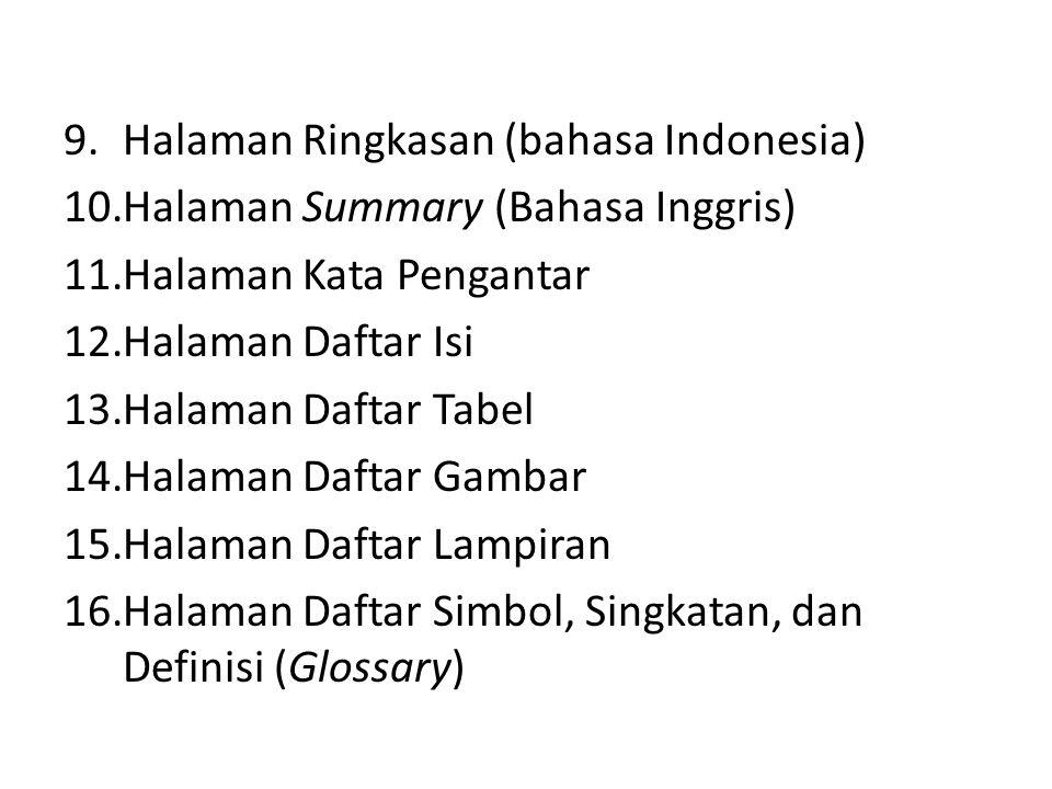 Halaman Ringkasan (bahasa Indonesia)