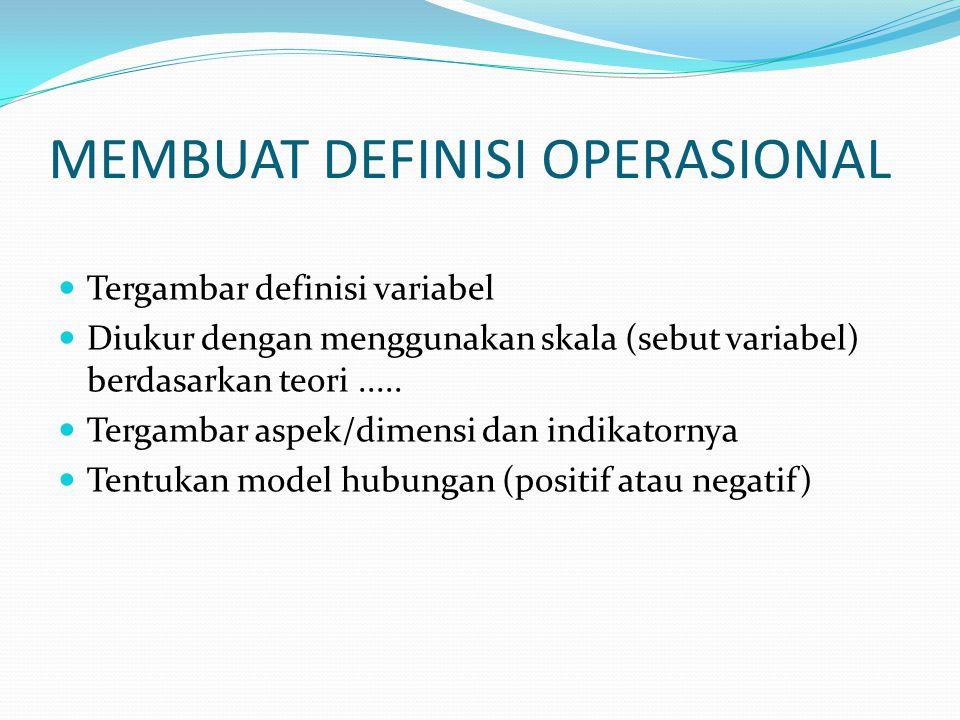 MEMBUAT DEFINISI OPERASIONAL