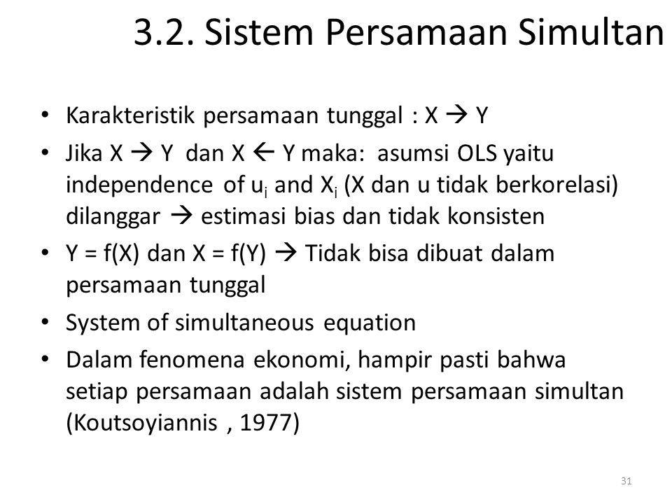 3.2. Sistem Persamaan Simultan