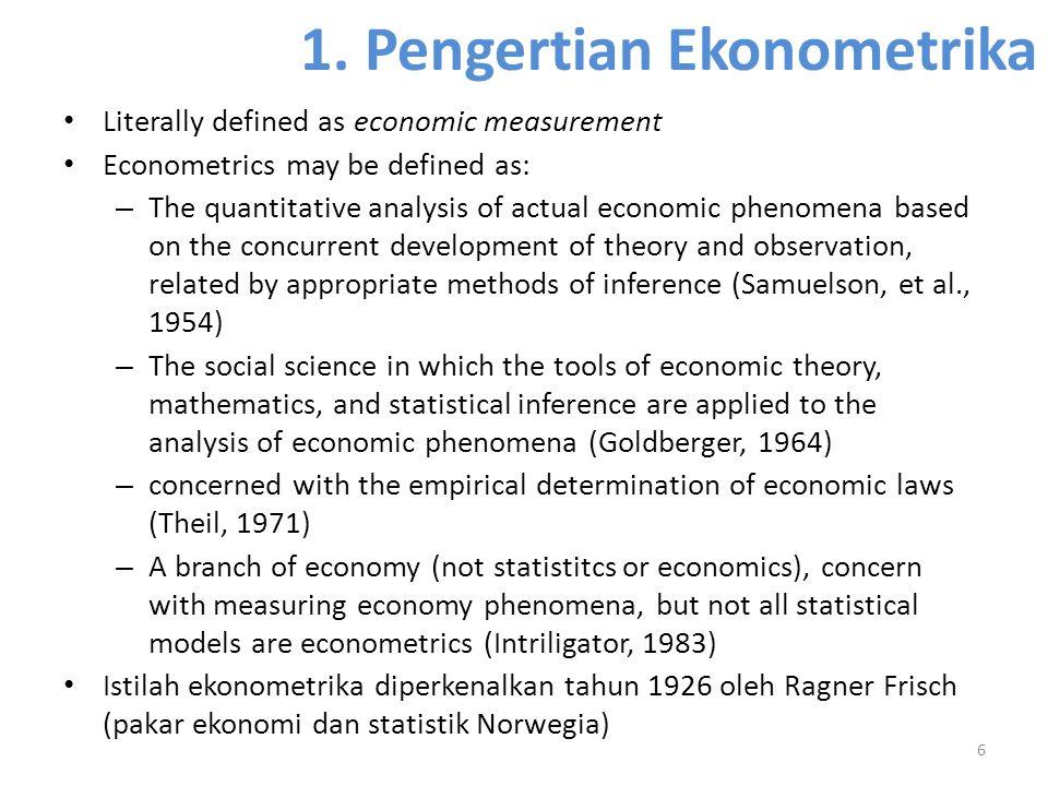1. Pengertian Ekonometrika