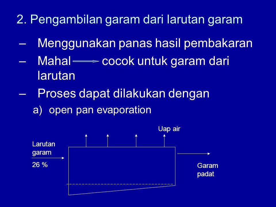 2. Pengambilan garam dari larutan garam