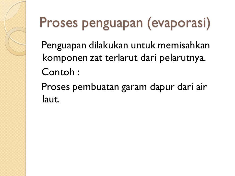 Proses penguapan (evaporasi)
