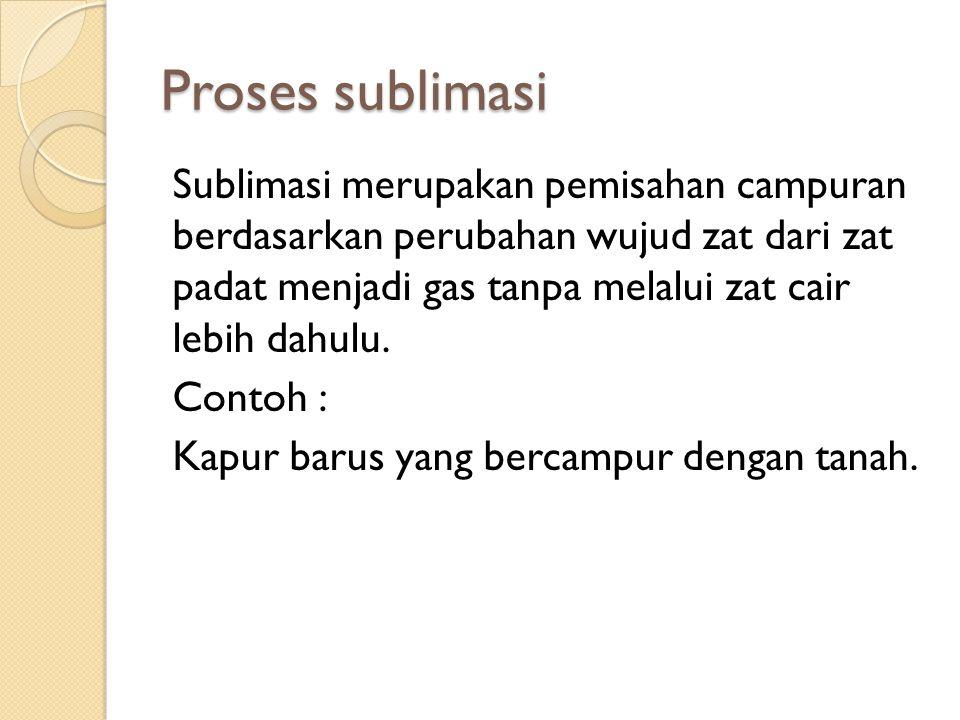 Proses sublimasi
