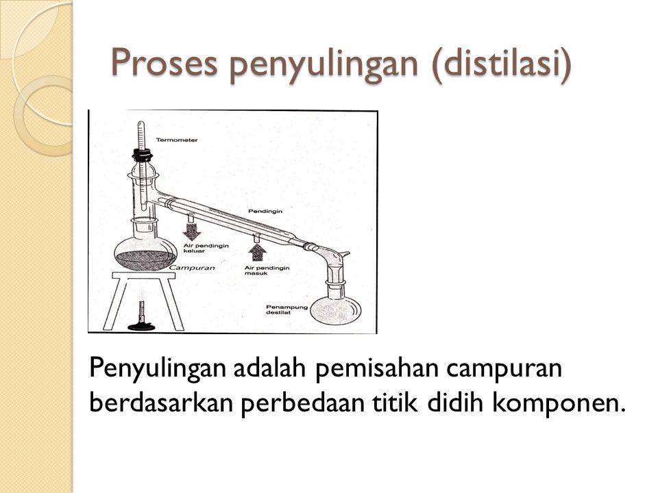 Proses penyulingan (distilasi)