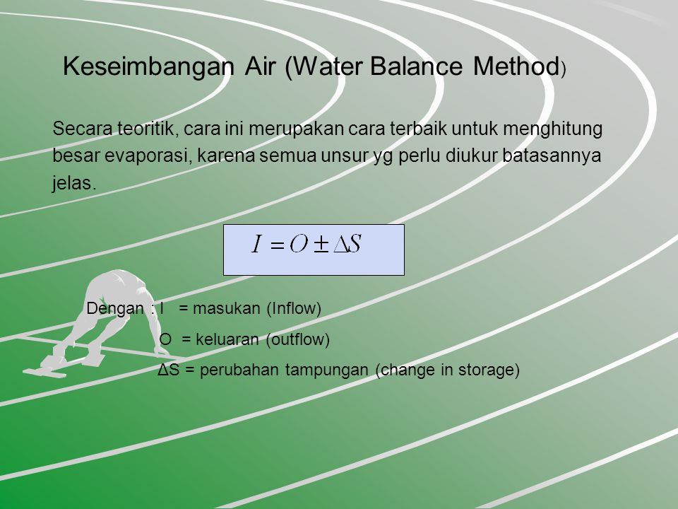 Keseimbangan Air (Water Balance Method)