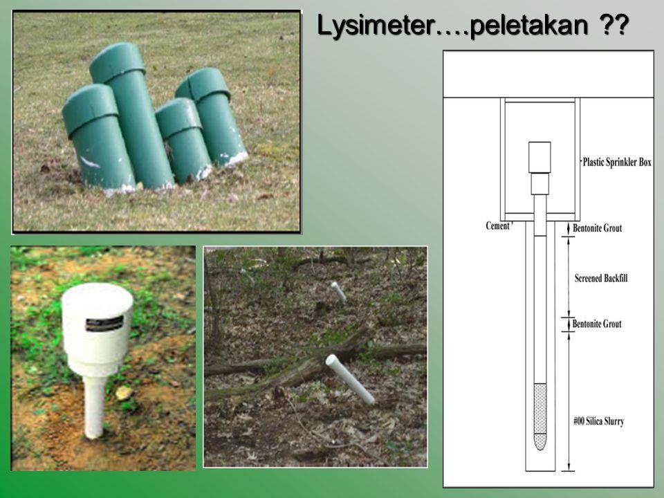Lysimeter….peletakan