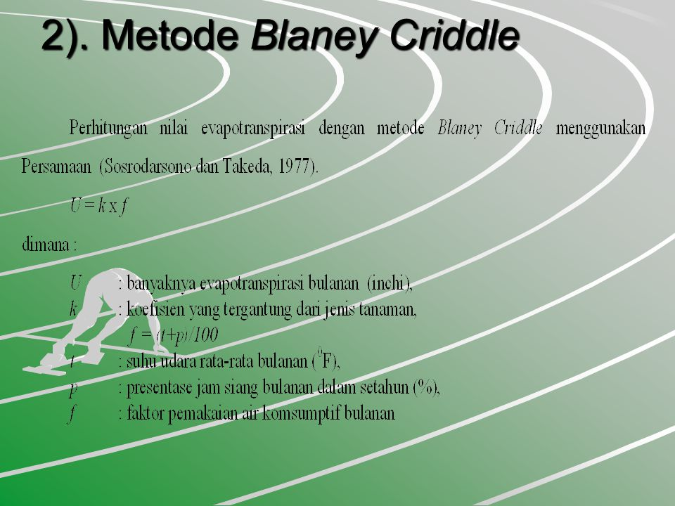 2). Metode Blaney Criddle