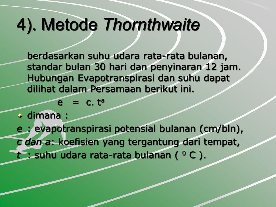 4). Metode Thornthwaite