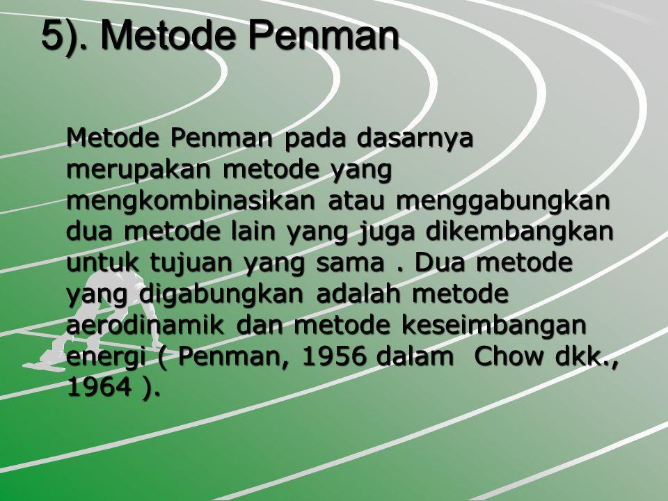 5). Metode Penman