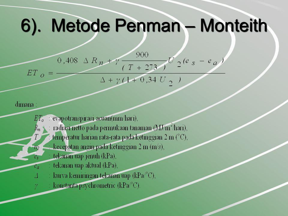 6). Metode Penman – Monteith