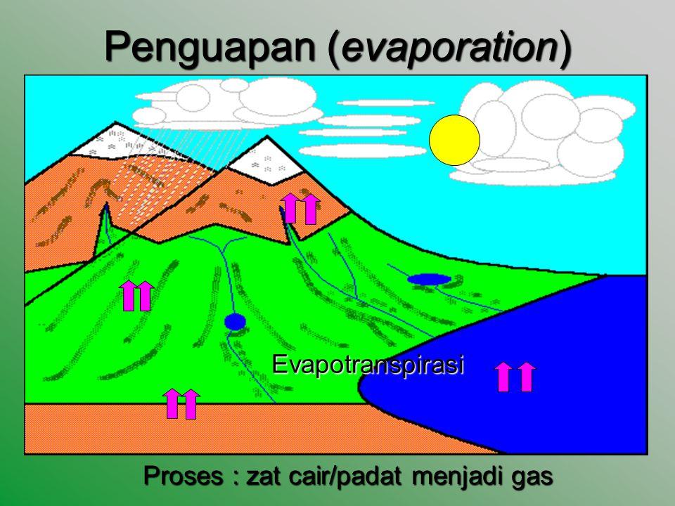 Penguapan (evaporation)