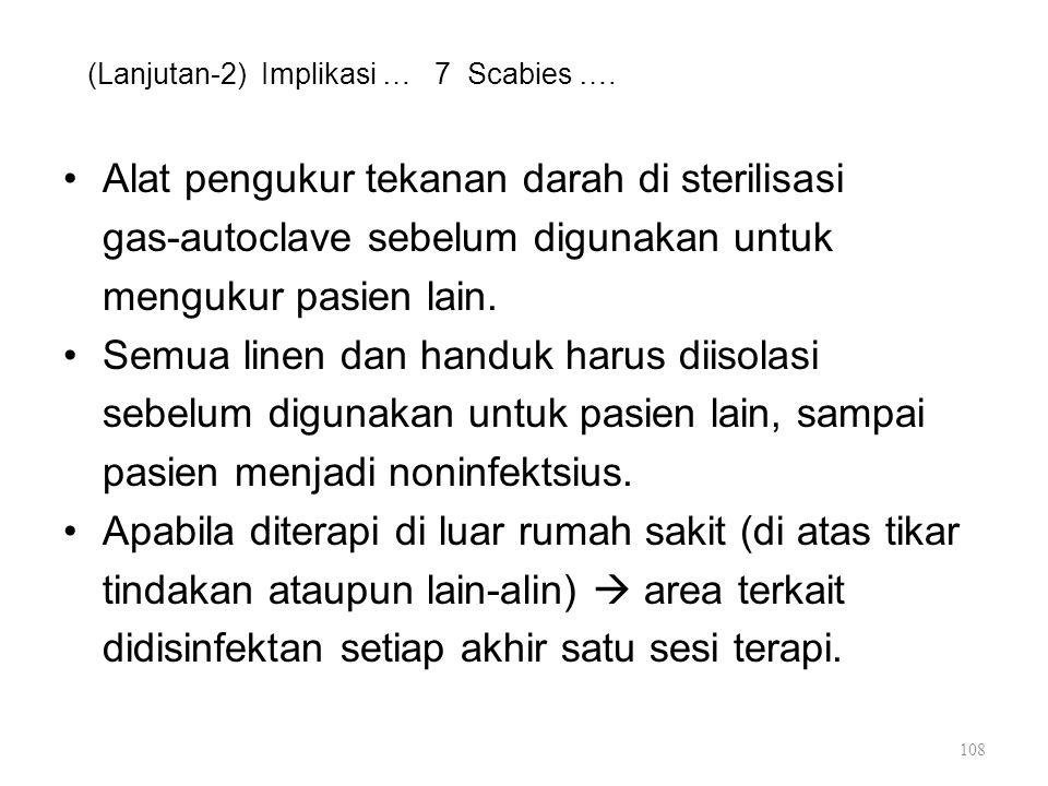(Lanjutan-2) Implikasi … 7 Scabies ….