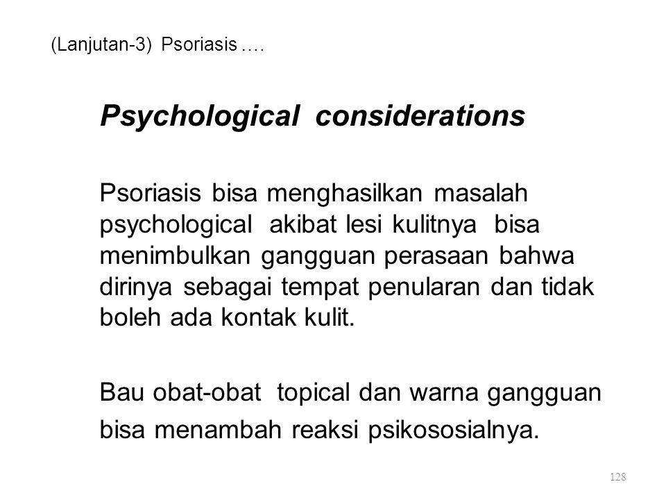 (Lanjutan-3) Psoriasis ….