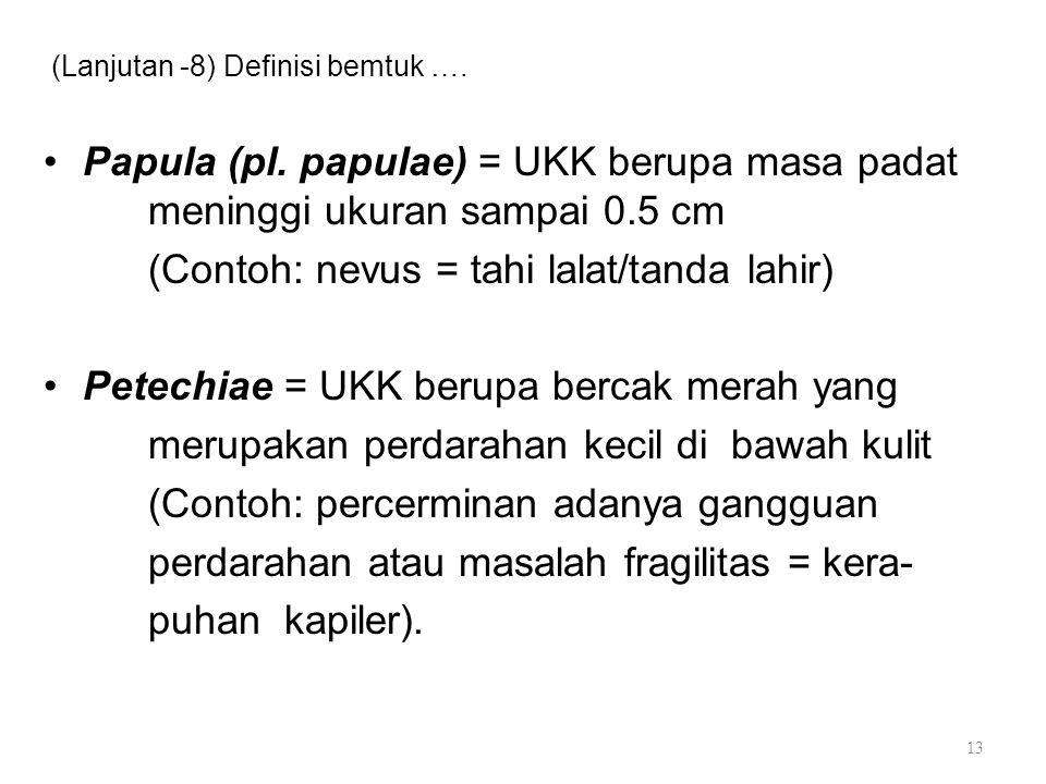 (Lanjutan -8) Definisi bemtuk ….