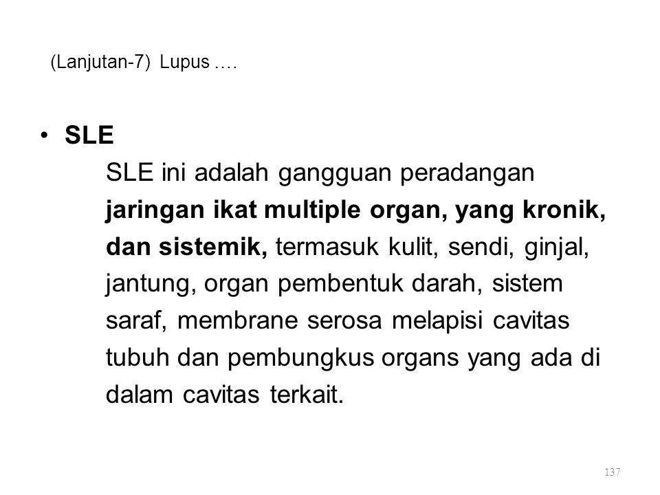SLE ini adalah gangguan peradangan