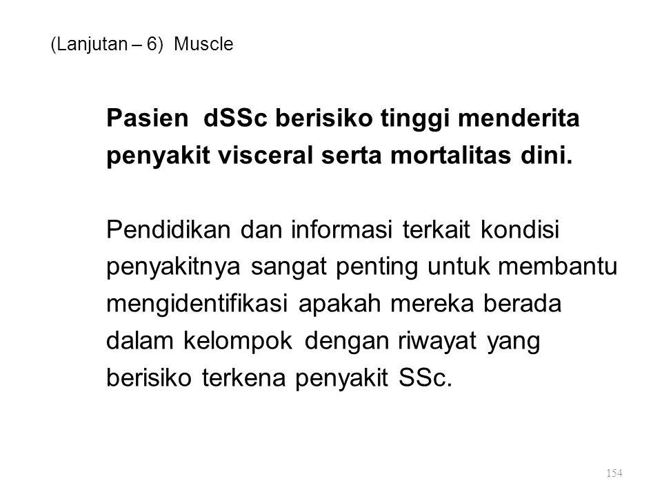Pasien dSSc berisiko tinggi menderita