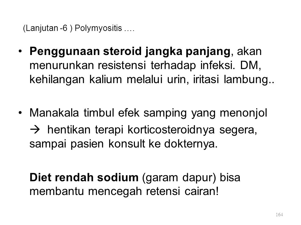 (Lanjutan -6 ) Polymyositis ….