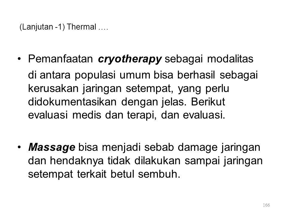 Pemanfaatan cryotherapy sebagai modalitas