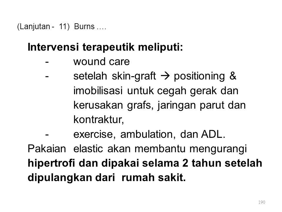 (Lanjutan - 11) Burns ….
