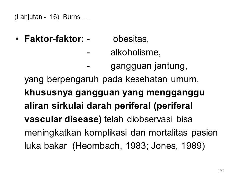 Faktor-faktor: - obesitas, - alkoholisme, - gangguan jantung,
