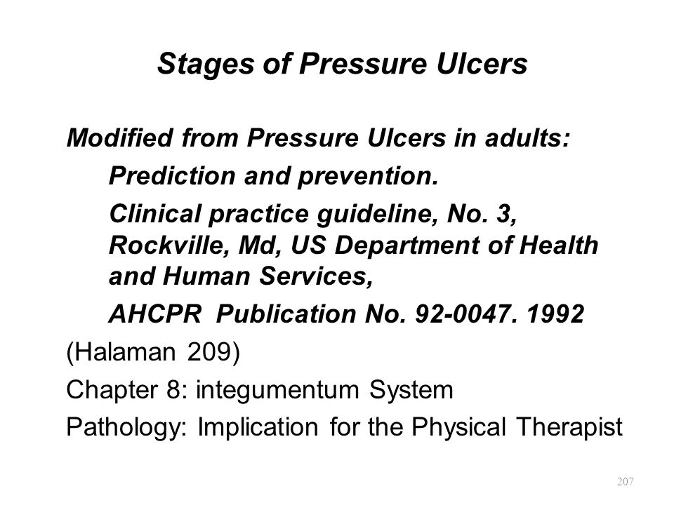 Stages of Pressure Ulcers
