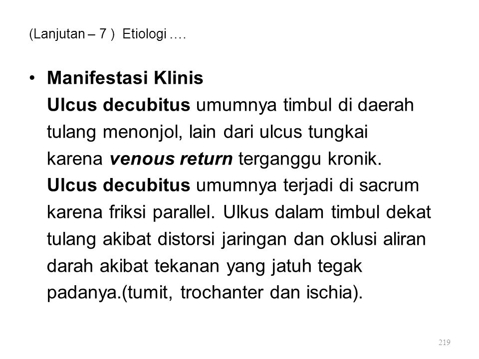 (Lanjutan – 7 ) Etiologi ….