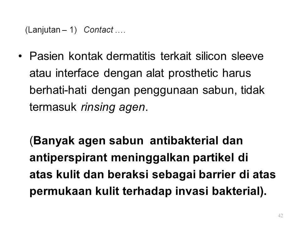 Pasien kontak dermatitis terkait silicon sleeve