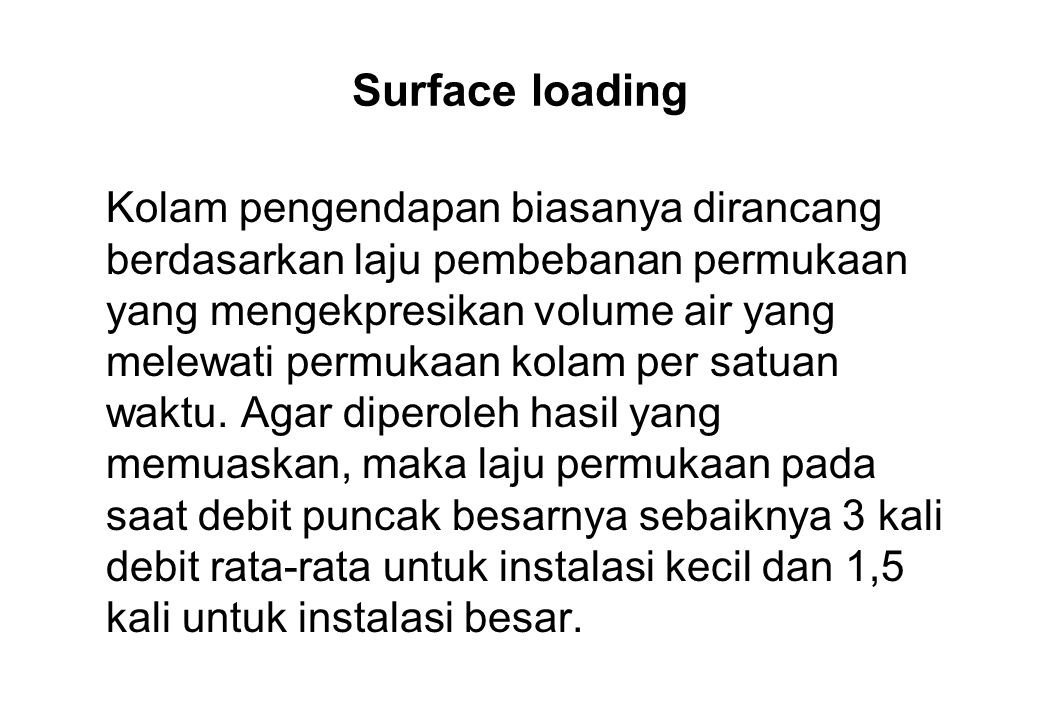 Surface loading