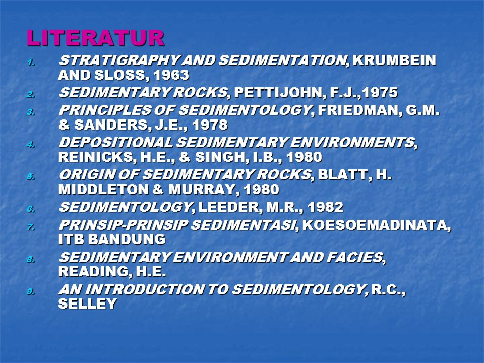 LITERATUR STRATIGRAPHY AND SEDIMENTATION, KRUMBEIN AND SLOSS, 1963