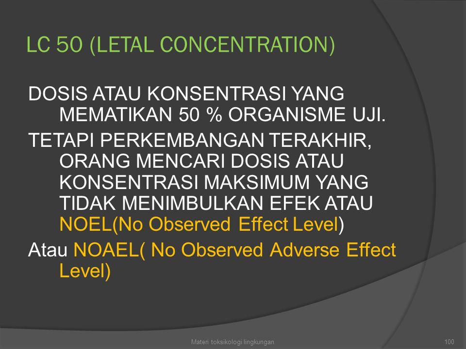 LC 50 (LETAL CONCENTRATION)