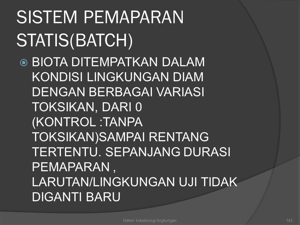 SISTEM PEMAPARAN STATIS(BATCH)
