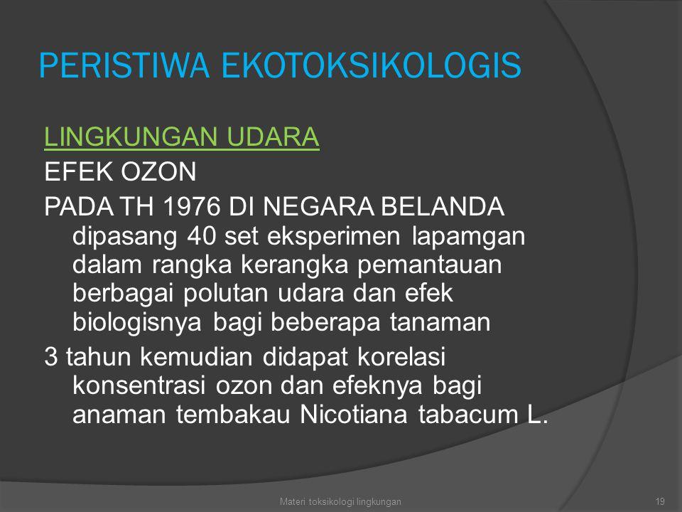 PERISTIWA EKOTOKSIKOLOGIS