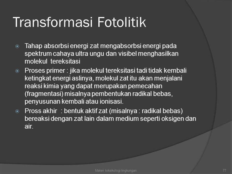 Transformasi Fotolitik