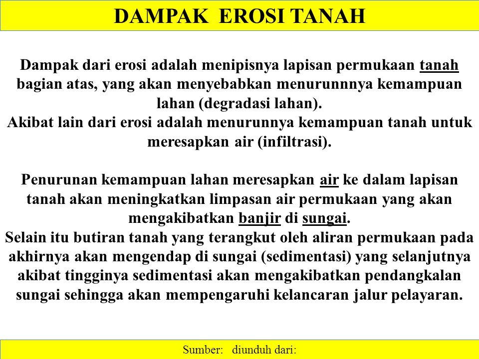 DAMPAK EROSI TANAH