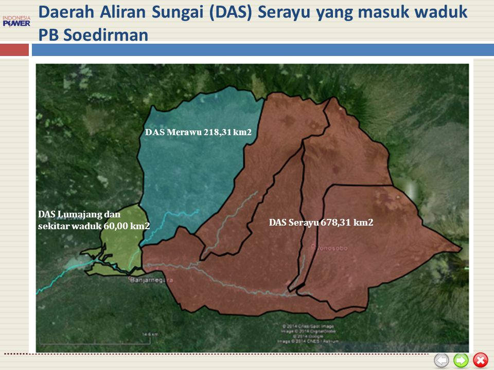 Daerah Aliran Sungai (DAS) Serayu yang masuk waduk PB Soedirman
